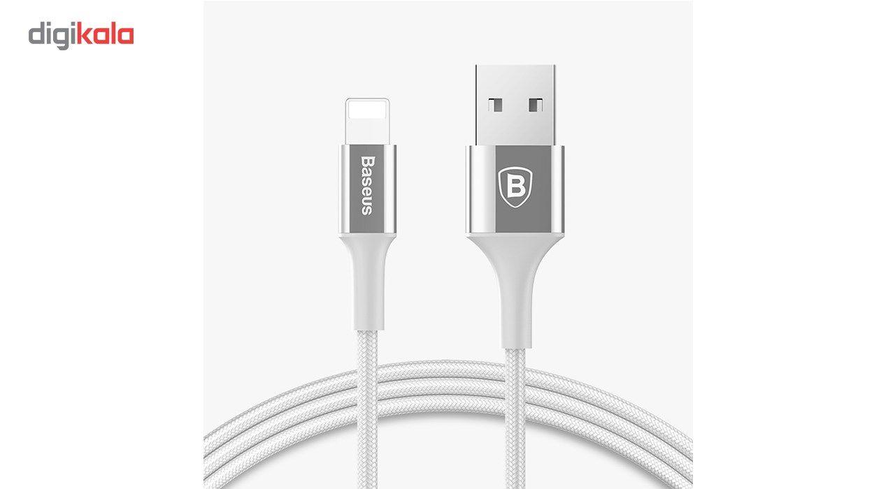 کابل تبدیل USB به لایتنینگ باسئوس مدل Shining Cable Jet Metal به طول 1 متر main 1 3