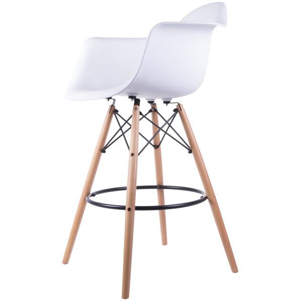 صندلی کروماتیک مدل White Armrest Bar Stool