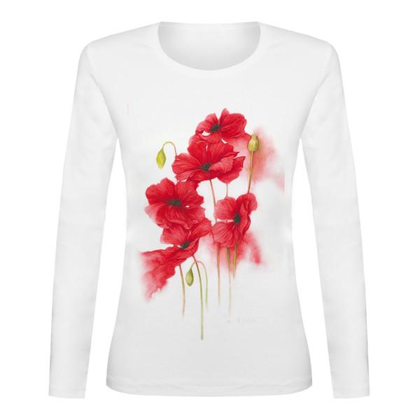 تی شرت آستین بلند زنانه کدTAB01-37