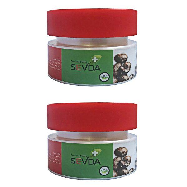ماسک قهوه صورت سودا مدل حجم 125 گرم مجموعه 2 عددی