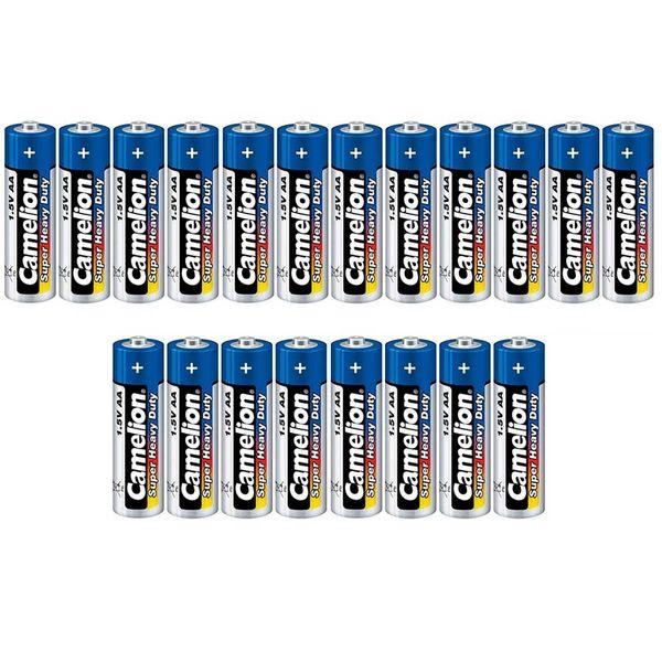 باتری قلمی کملیون مدل Super Heavy Duty بسته 20 عددی