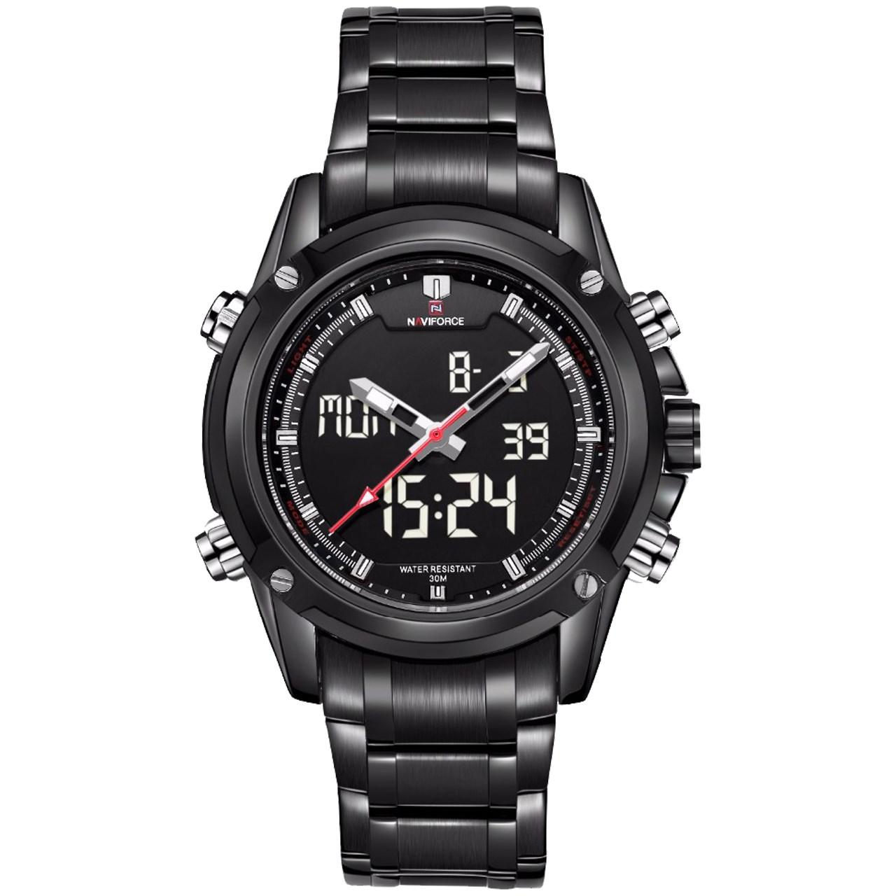 ساعت مچی عقربه ای مردانه نیوی فورس مدل NF9050M/BBW