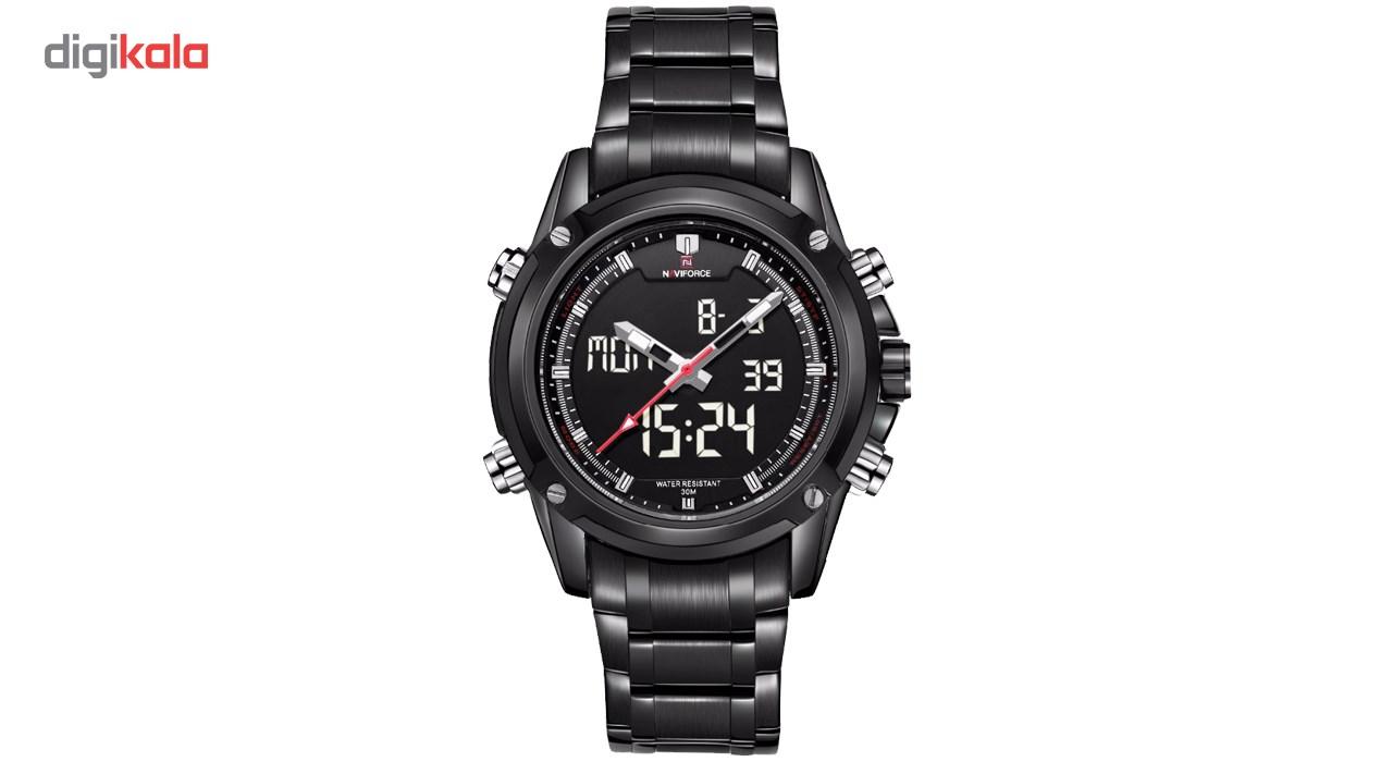 خرید ساعت مچی عقربه ای مردانه نیوی فورس مدل NF9050M/BBW
