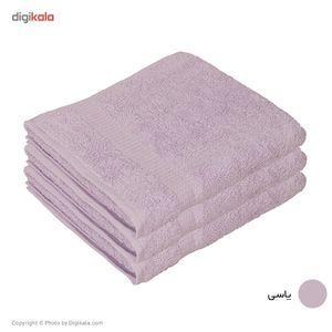 حوله مریم مدل Simple سایز 50 × 100 سانتی متر بسته 3 عددی  Maryam Simple Towel Size 100 x 50 Cm Pac