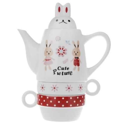 سرویس چای خوری 4 پارچه فشن اند بیوتی مدل Rabbit 003