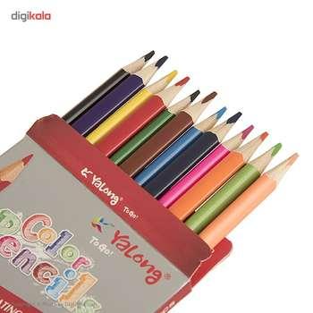مداد رنگی 12 رنگ یالانگ