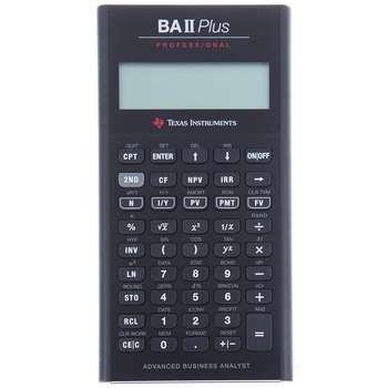 تصویر ماشین حساب تگزاس اینسترومنتس مدل BA II PLUS Professional Texas Instruments BA II PLUS Professional Calculator