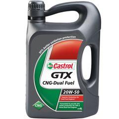 روغن موتور خودرو کاسترول مدل GTX CNG Dual Fuel ظرفیت 4 لیتری 20W50