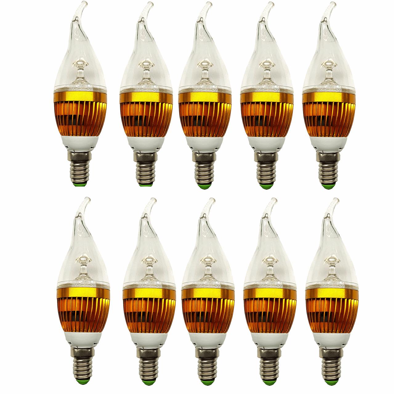 لامپ ال ای دی 3 وات بینانور مدل کریستالی پایه E14 بسته 10 عددی