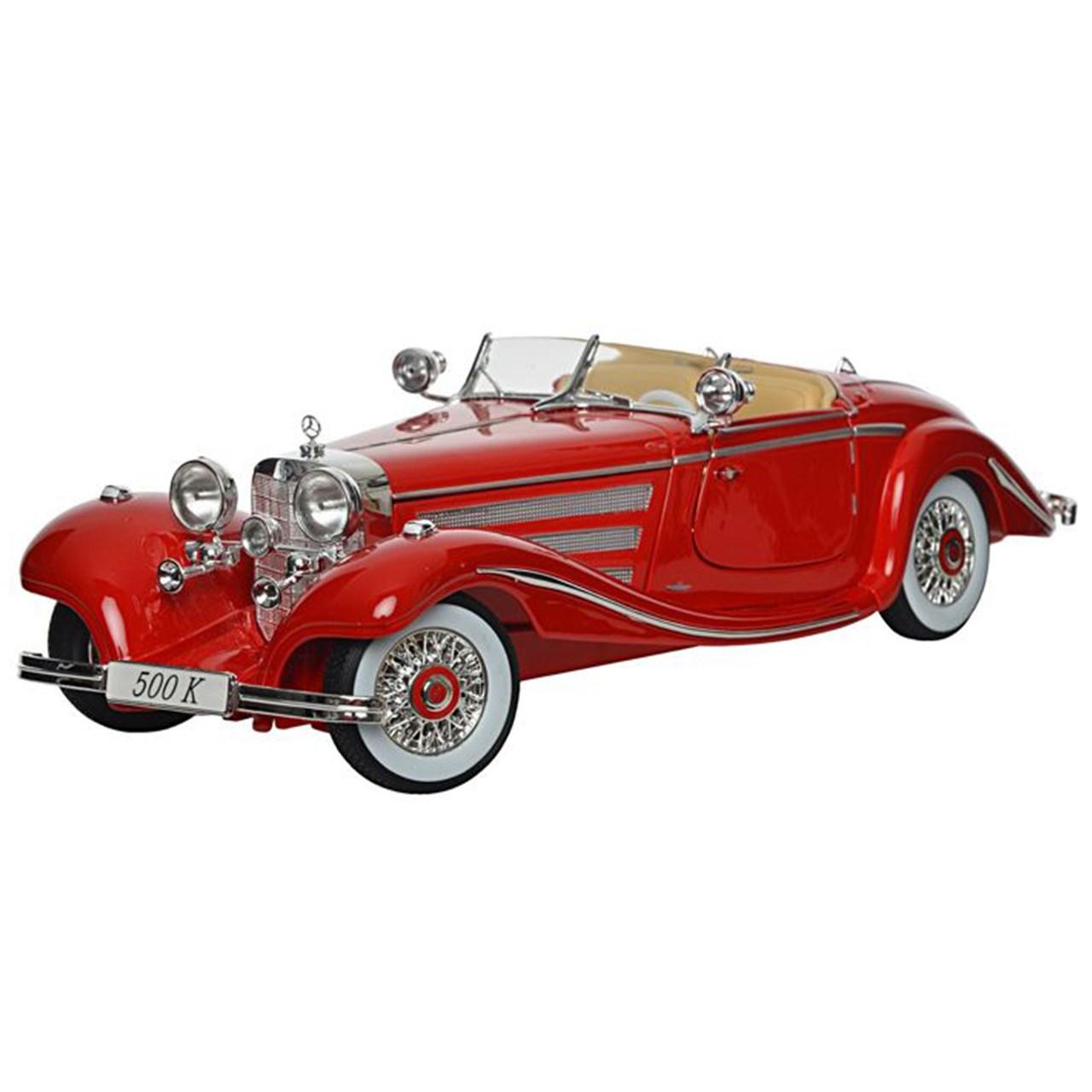 ماشین بازی مایستو مدل Mercedes Benz 500K Type Specialroadster 1936