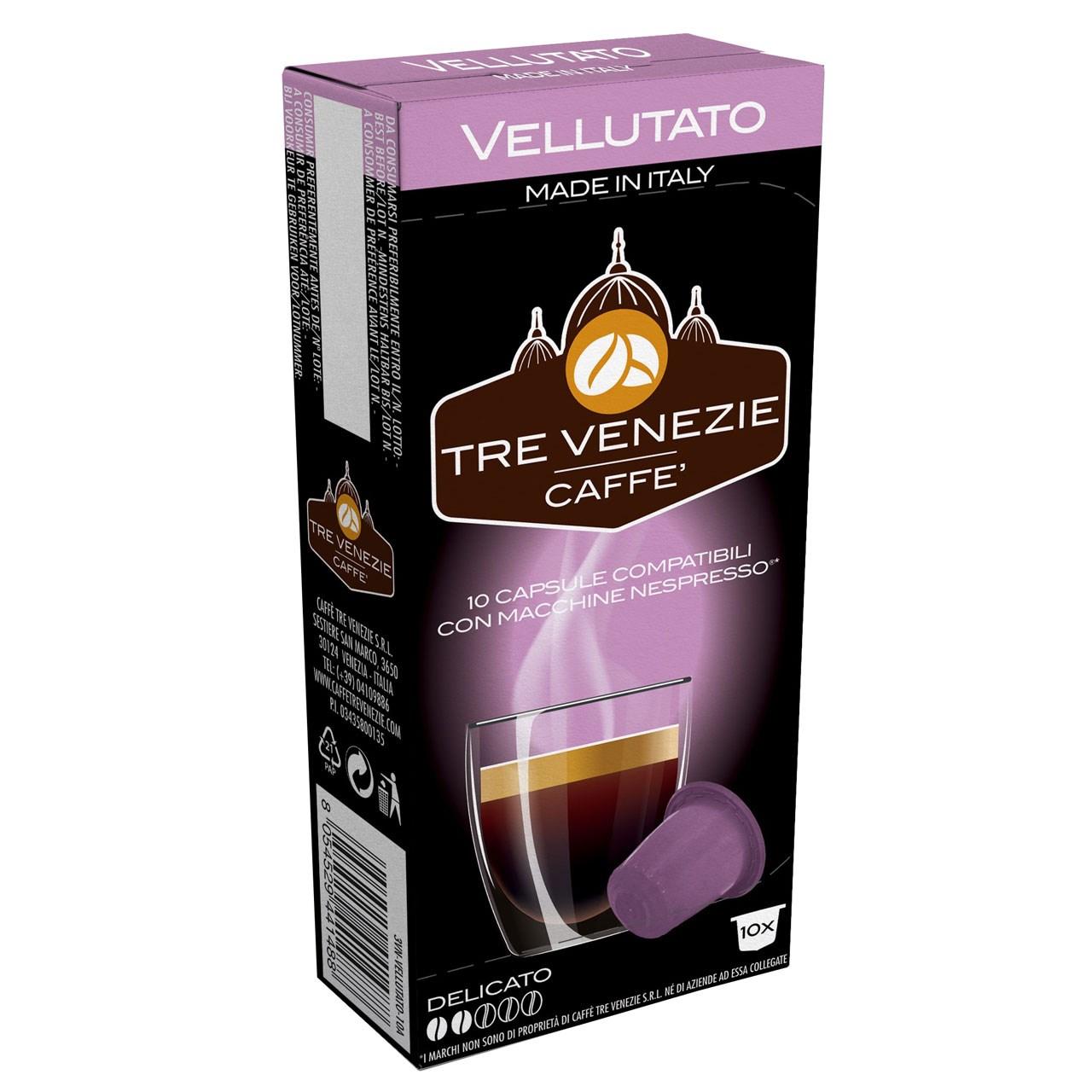 کپسول قهوه تِرِونیز مدل Vellutato بسته 10 عددی