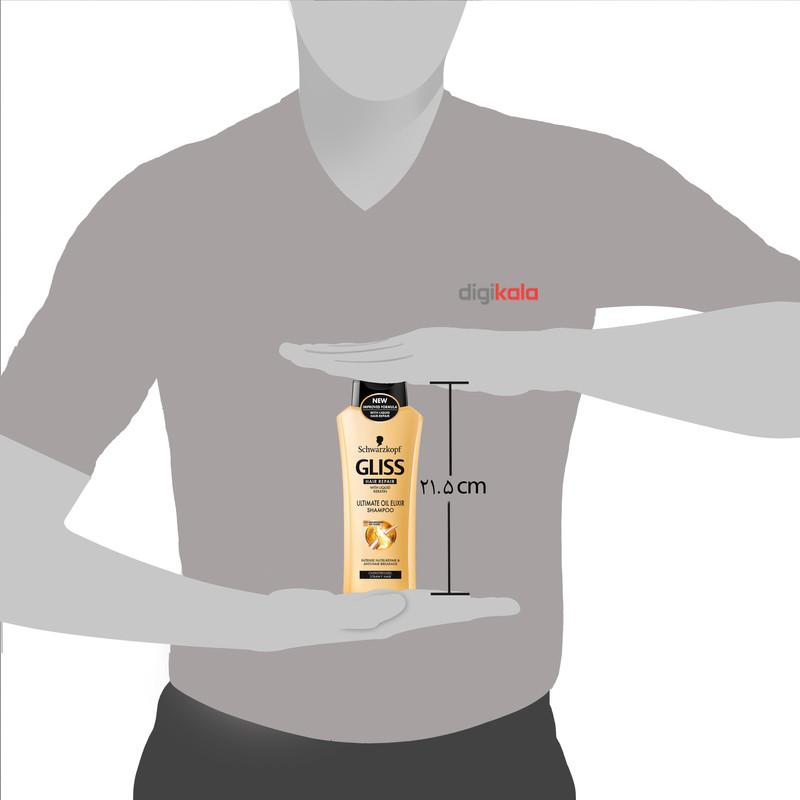 شامپو موی سر گلیس مدل Ultimate Oil Elixir حجم 400 میلی لیتر