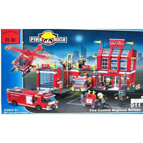 لگو آتش نشانی انلایتن مدل 911 تعداد 980 قطعه