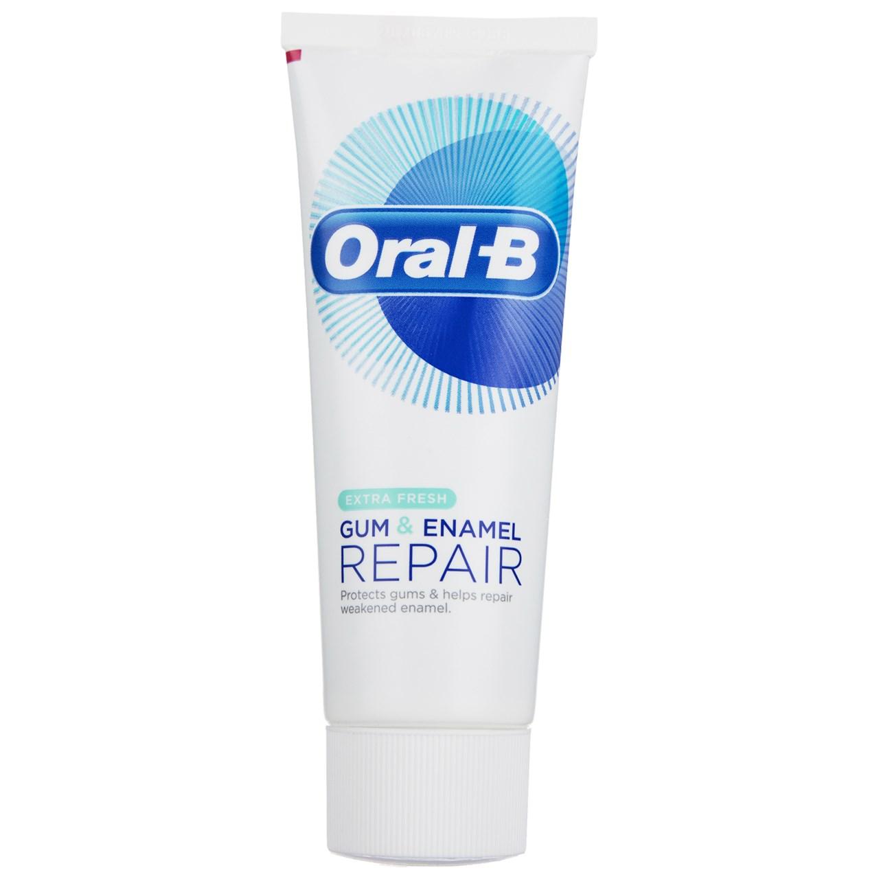 قیمت خمیر دندان اورال بی سری Gum And Enamel Repair مدل Extra Fresh حجم 75 میلی لیتر