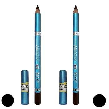 مداد چشم بل مدل waterproof long lasting مجموعه دو عددی