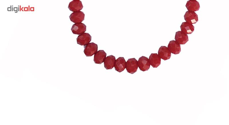 دستبند عود طرح کریستال قرمز مدل 100091