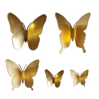 مگنت ایدلیک طرح پروانه مجموعه ۵ عددی