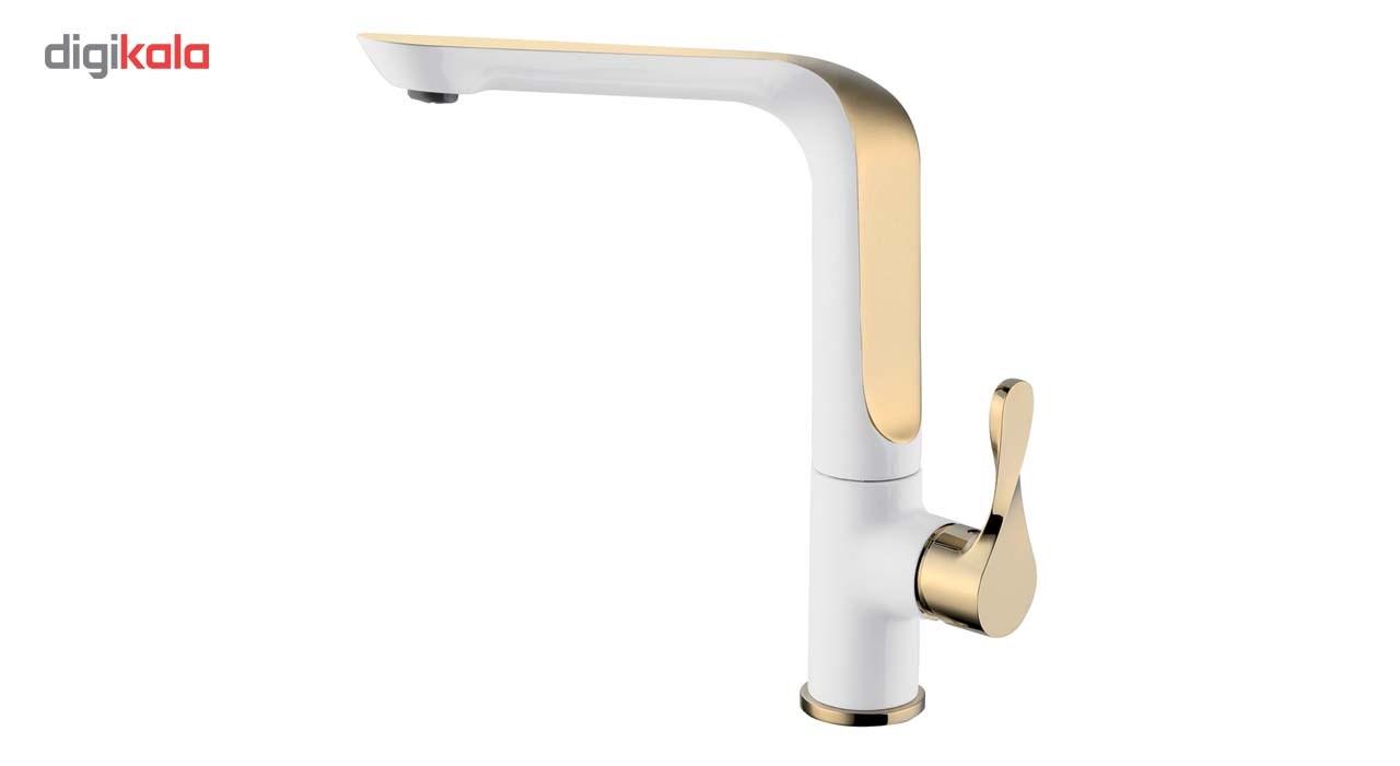 شیر آشپزخانه الپس مدل ALPS طلایی سفید ALPS AP90665 Kitchen Faucets
