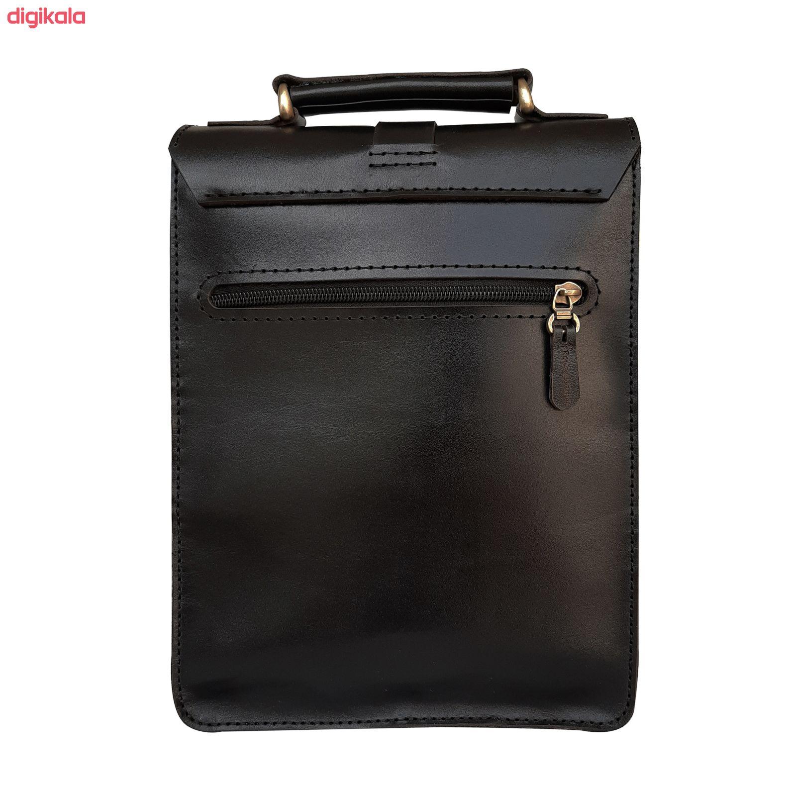 کیف دوشی مردانه چرم روژه مدل ES01B main 1 5