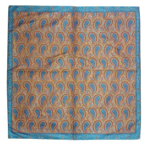 رومیزی ترمه ابریشمی کد 2032 سایز 100 × 100 سانتی متر