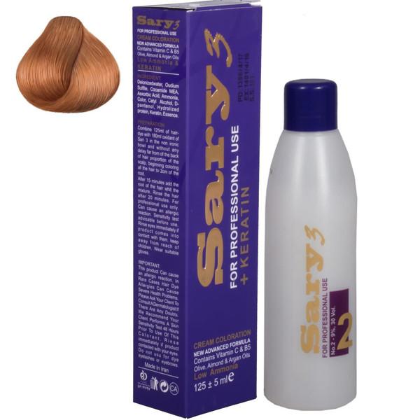 کیت رنگ مو ساری 3 سری Honey مدل Medium Honey شماره H6-7.34