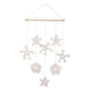 آویز تزئینی بوهو ماه مدل Snowflake