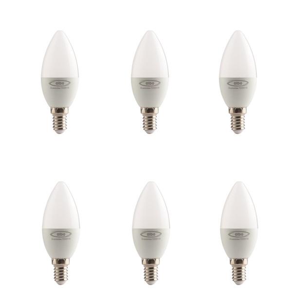 لامپ ال ای دی 5 وات البو مدل ساده پایه E14  بسته 6 عددی