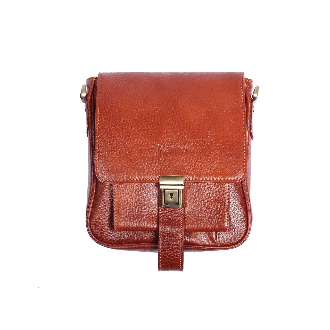 کیف دوشی چرم طبیعی مدل  K2