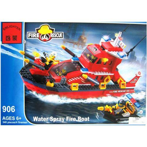 لگوکشتی آتش نشانی انلایتن مدل 906 تعداد340  قطعه