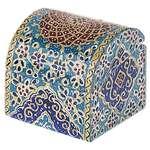 جعبه استخوانی اثر بهشتی طرح تذهیب فرشی سایز کوچک