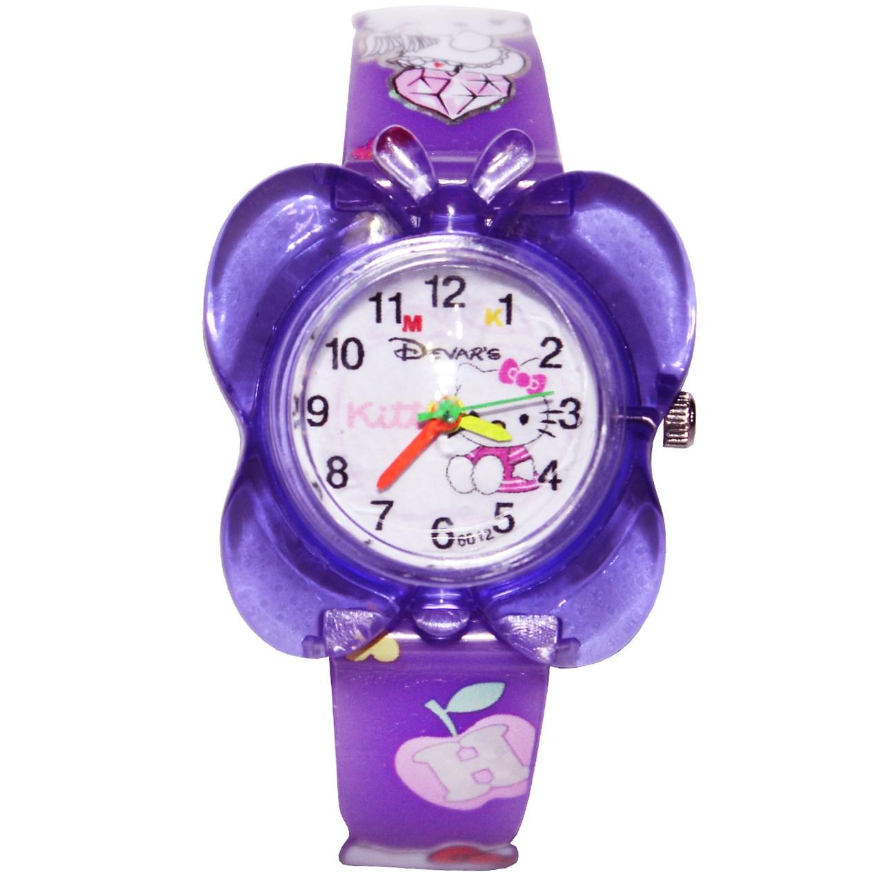 ساعت مچی عقربه ای بچگانه مدل K-03 دخترانه 48