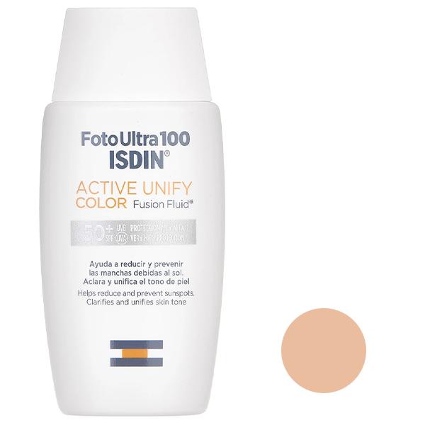 فلوئید ضد آفتاب ایزدین مدل ACTIVE UNIFY حجم 50 میلی لیتر