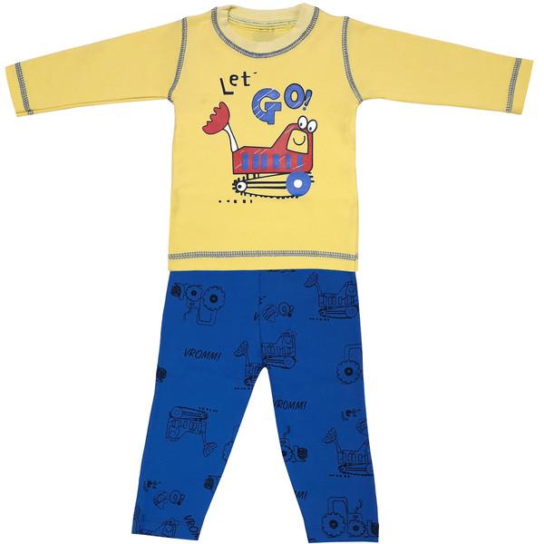ست تی شرت و شلوار پسرانه طرح بلدوزر کد 3157