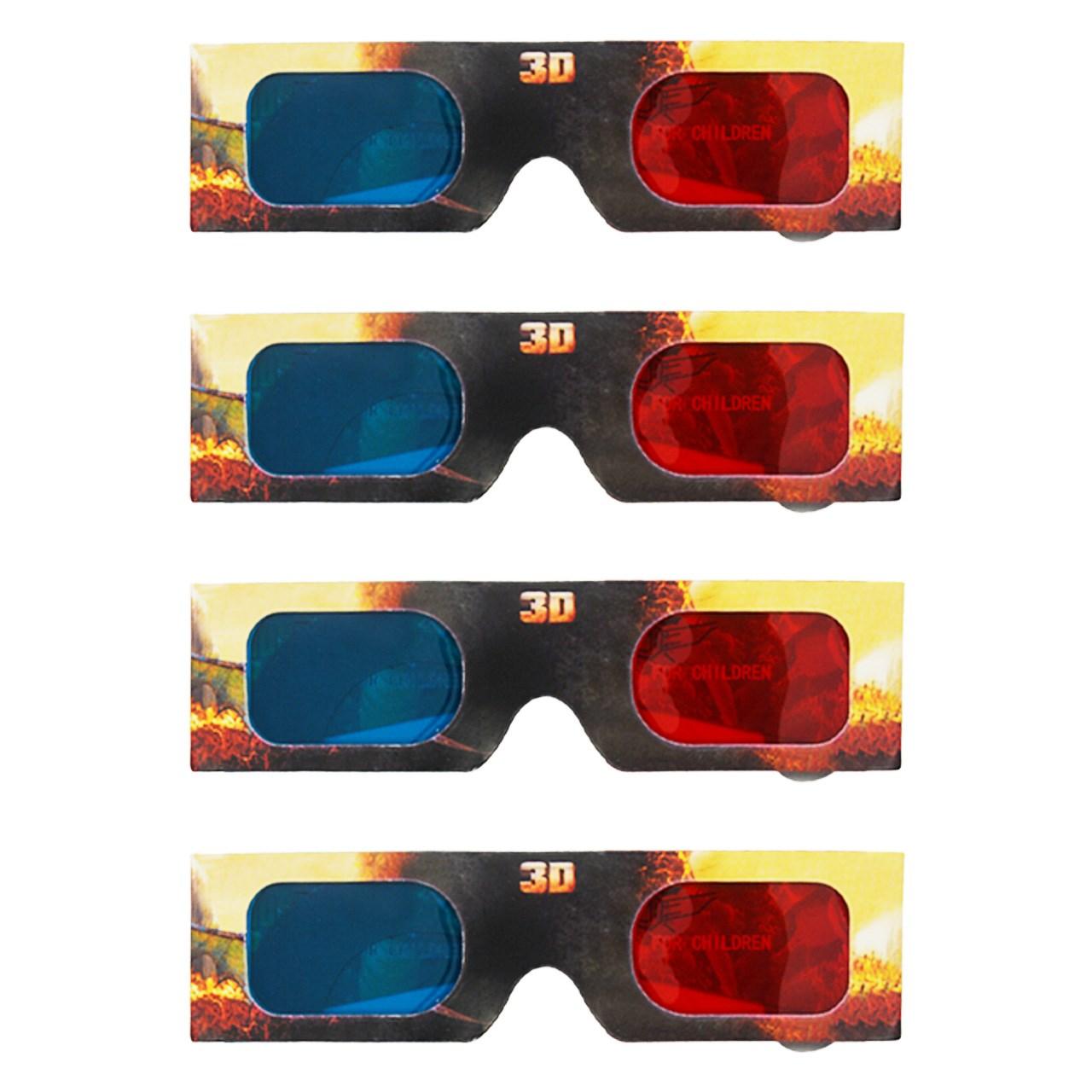 تصویر پک چهارعددی عینک سه بعدی مدل Hideous zippleback Hideous zippleback 3D Glasses