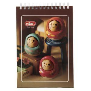 دفتر یادداشت کلیپس طرح عروسک چوبی - 100 برگ