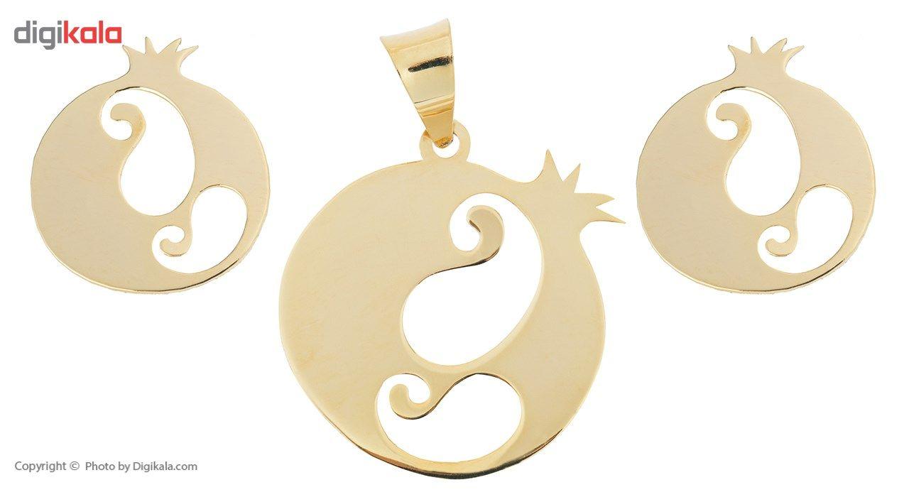 نیم ست طلا 18 عیار ماهک مدل MS0057 - مایا ماهک -  - 1