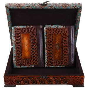 جعبه و کتابهای قرآن کریم و مفاتیح الجنان مدل 01 -10 سایز متوسط