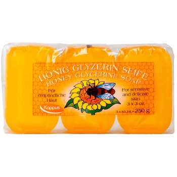 پک صابون کاپوس مدل Honey Glycerine بسته 3 عددی