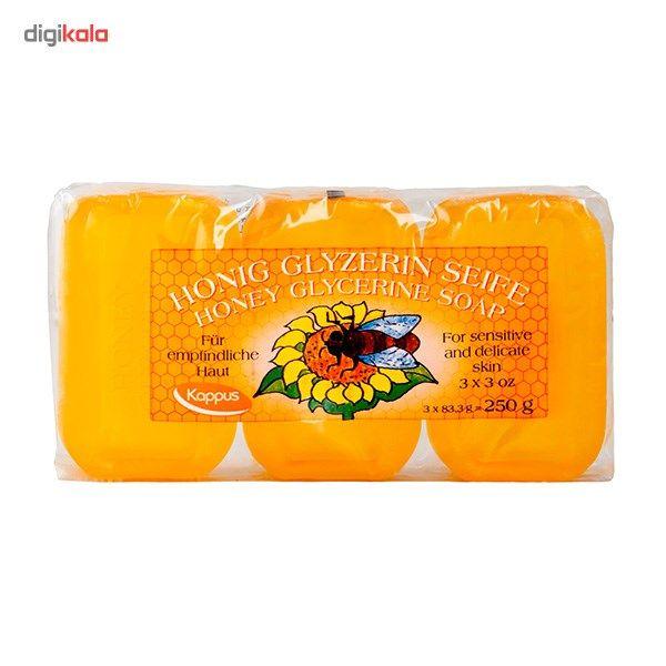 پک صابون کاپوس مدل Honey Glycerine بسته 3 عددی main 1 1