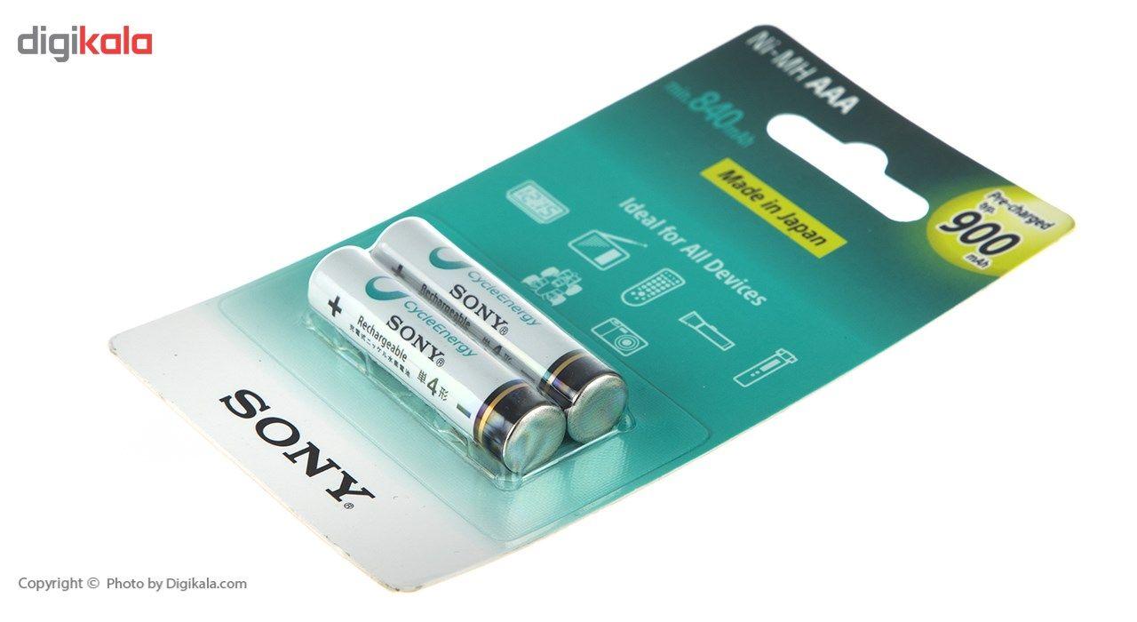 باتری نیم قلمی قابل شارژ سونی مدل NH-AAA-B2GN بسته 2 عددی main 1 2
