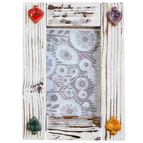 قاب عکس چوبی گالری رس طرح پتینه کد 172034
