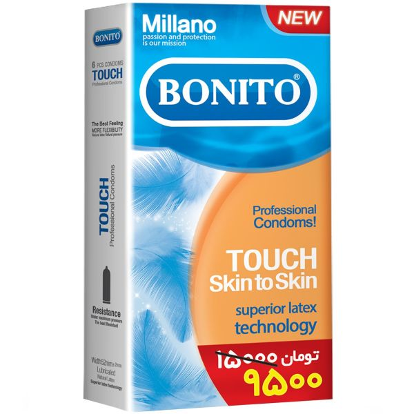 کاندوم بونیتو مدل Touch Skin To Skin بسته 6 عددی