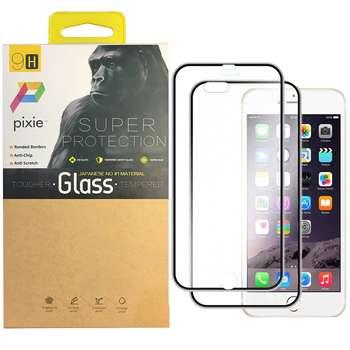 محافظ صفحه نمایش و پشت گوشی تمام چسب شیشه ای پیکسی مدل Titanium مناسب برای گوشی اپل آیفون 8 پلاس