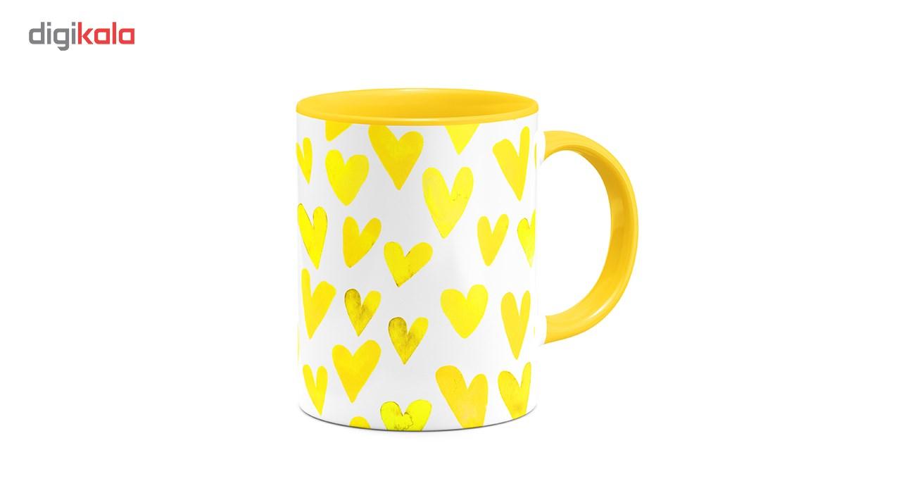 ماگ هیدورا طرح عشق زرد
