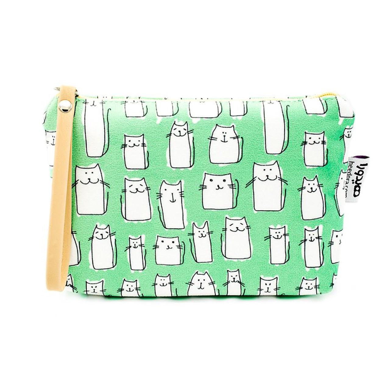 کیف لوازم آرایش هیدورا طرح گربه ها