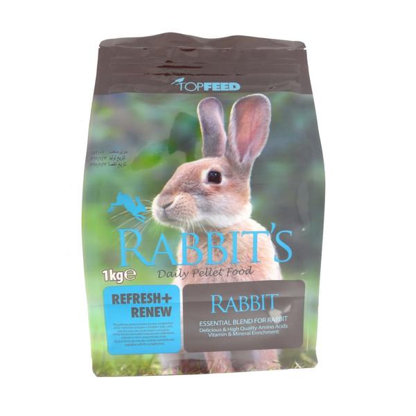 غذای خشک خرگوش تاپ فید مدل Daily Pellet وزن 1 کیلوگرم