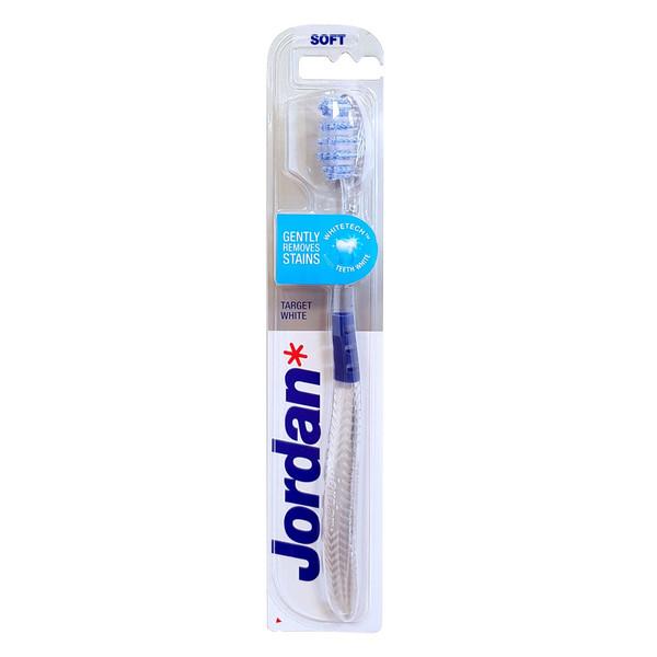 مسواک جردن مدل Target White با برس نرم