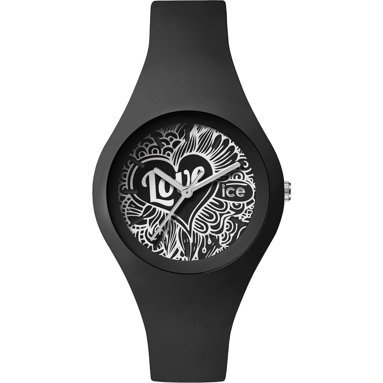 ساعت مچی عقربه ای زنانه آیس واچ مدل LO.BK.DO.S.S.16