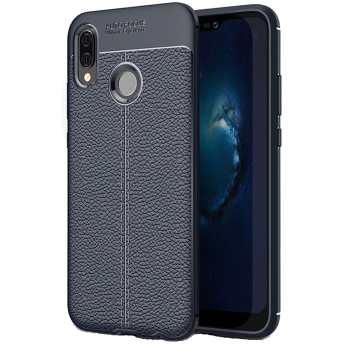 کاور ژله ای طرح چرم مناسب برای گوشی موبایل هواوی Nova 3e/P20 Lite