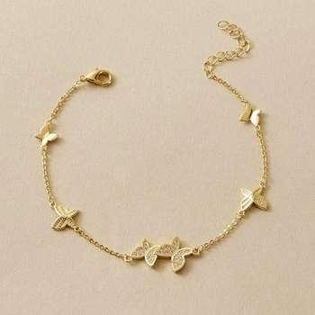 پابند طلا 18 عیار زنانه قیراط کد GH577